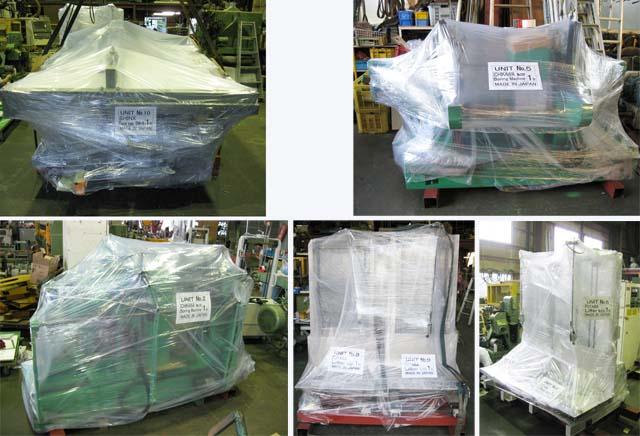 輸出機械の梱包例